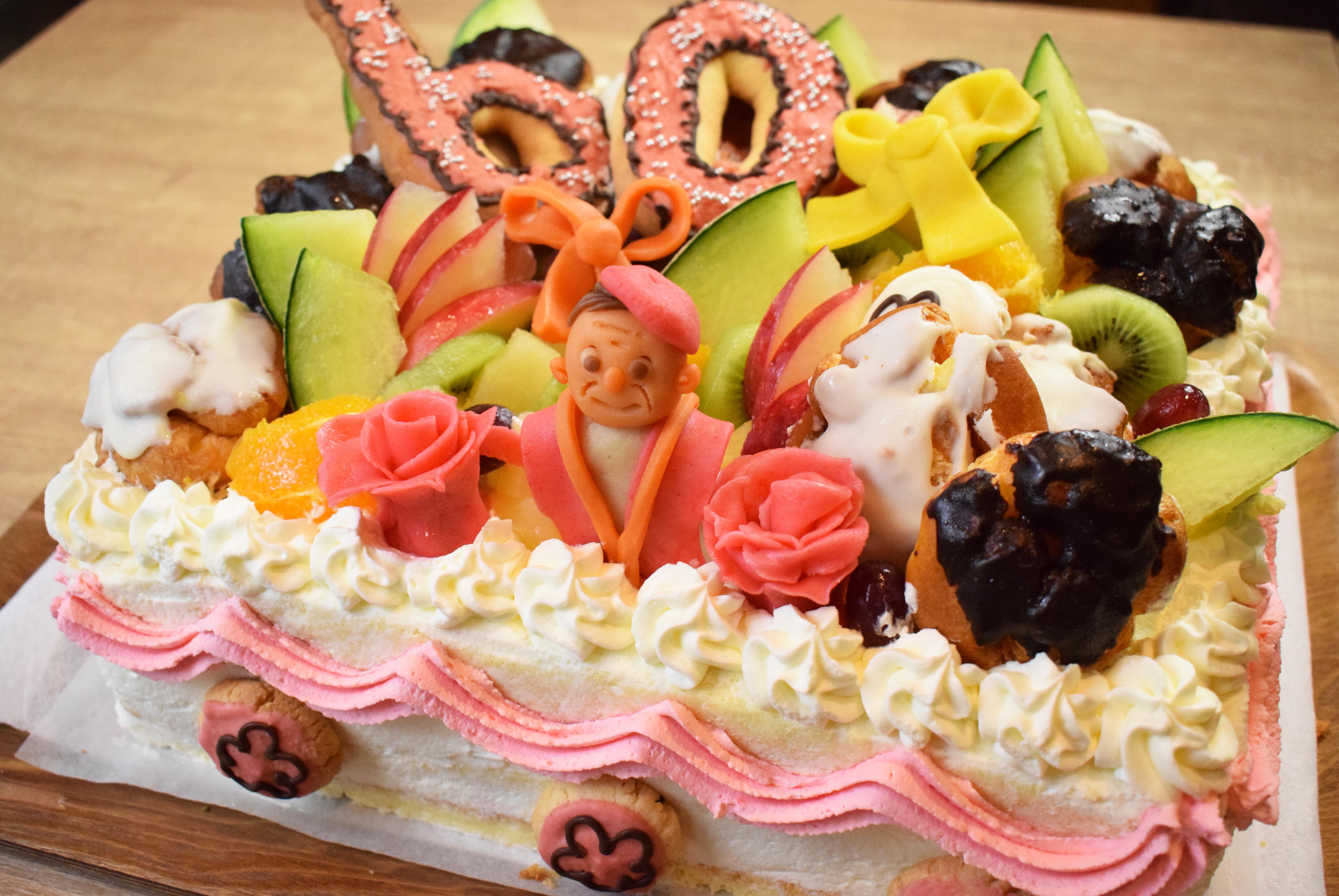 2018年5月29日還暦パーティーアニバーサリーケーキ